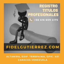 Registramos Títulos Universitarios Profesionales TSU Caracas