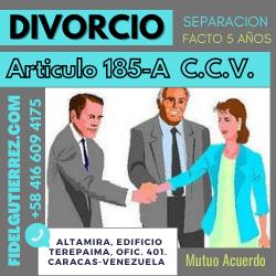 Divorcio articulo 185-a