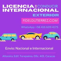 permiso de conducir internacional venezuela caracas