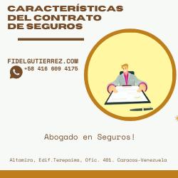 caracteristicas del contrato de seguros