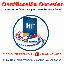 certificacion consular licencia conducir venezuela