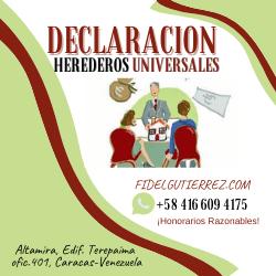 Herederos Universales Declaracion venezuela