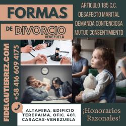 formas de divorcio en venezuela abogados caracas