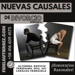 nuevas causales de divorcio en venezuela