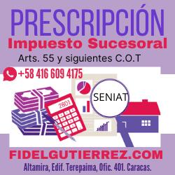 prescripcion impuesto sucesoral herencia venezuela