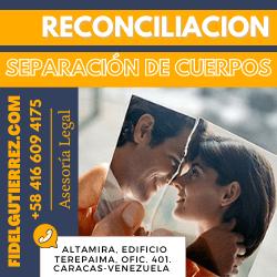 reconciliacion en la separacion de cuerpos y bienes divorcio