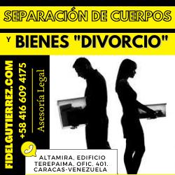 separacion de cuerpos y bienes divorcio particion anticipada