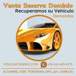 venta con reserva de dominio vehiculos venezuela