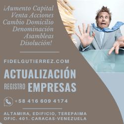 actualizacion de compañias y empresas en el registro mercantil