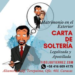 carta solteria legalizada apostillada venezuela-