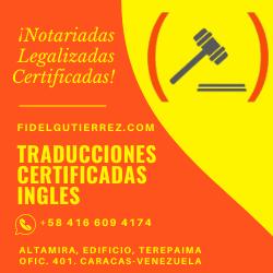 traducciones certificadas en ingles caracas venezuela