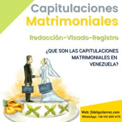 capitulaciones matrimoniales en venezuela redaccion visado registro modelo
