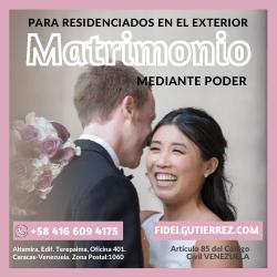 matrimonio mediante poder apoderado venezuela